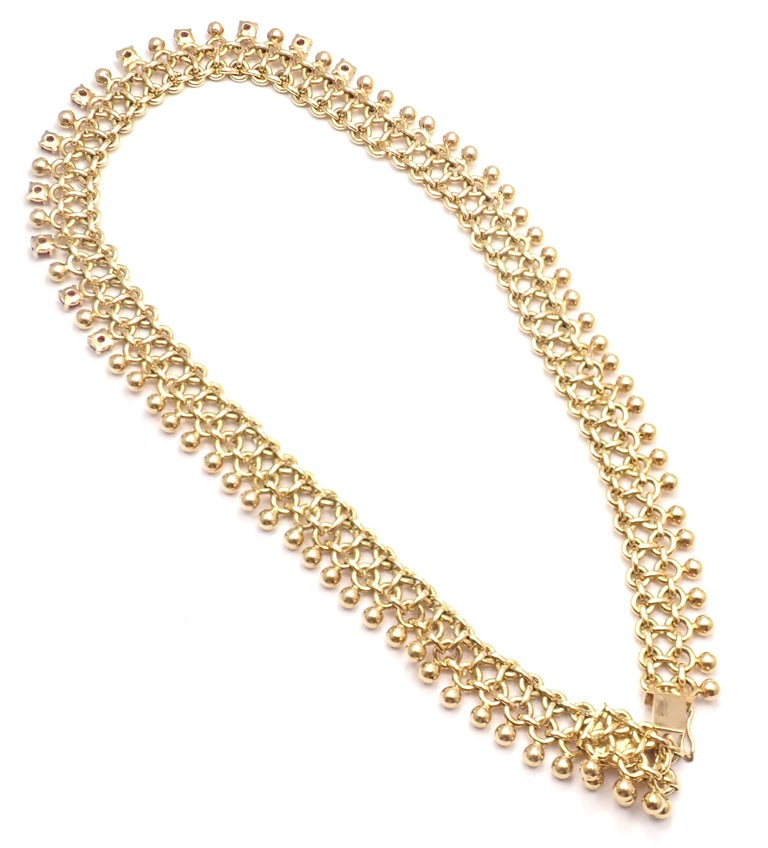 Vintage Tiffany & Co. Ruby Collar Yellow Gold Necklace For Sale 4