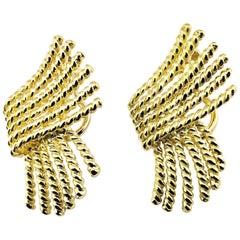 Vintage Tiffany & Co. Schlumberger 18 Karat Yellow Gold Clip-On Earrings