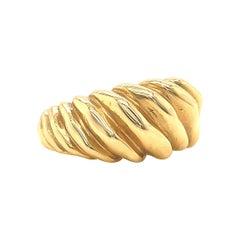 Vintage Tiffany & Co. Schlumberger Twisted 18 Karat Gold Ring