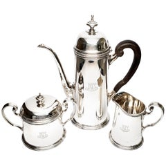 Vintage Tiffany & Co. Sterling Silver 3 Piece Coffee Set, with Monogram