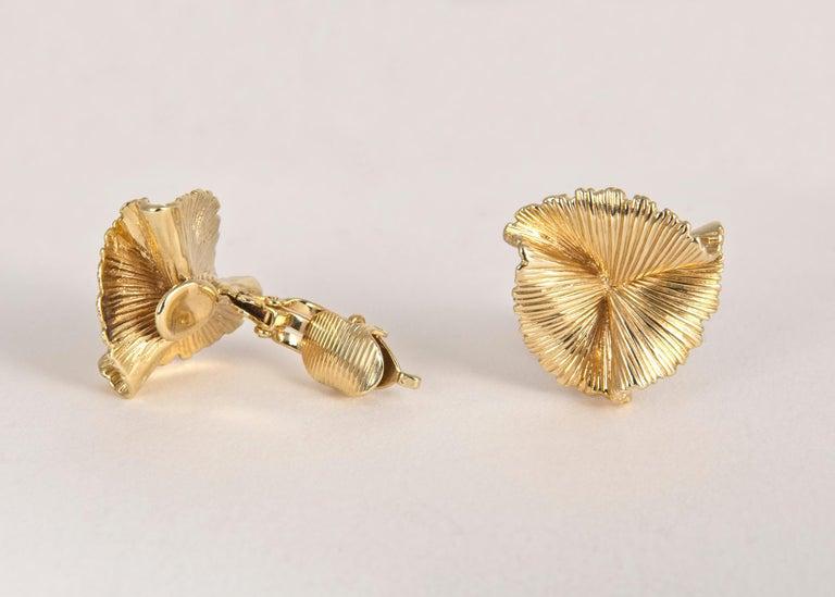 Women's Vintage Tiffany & Co. Triple Fan Motif Earrings
