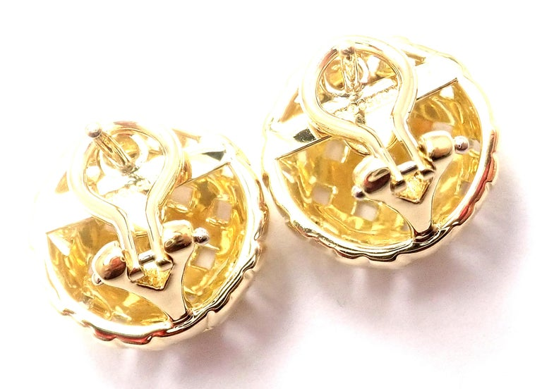18k Yellow Gold Vintage Vannerie Basket Weave Earrings by Tiffany & Co. These earrings are made for pierced ears. Details: Weight: 9.1 grams Dimensions: 15mm Stamped Hallmarks: T&Co, 750, 1995 *Free Shipping within the United States* YOUR PRICE: