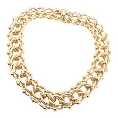 Vintage Tiffany & Co. Wide Link Yellow Gold Chain Necklace