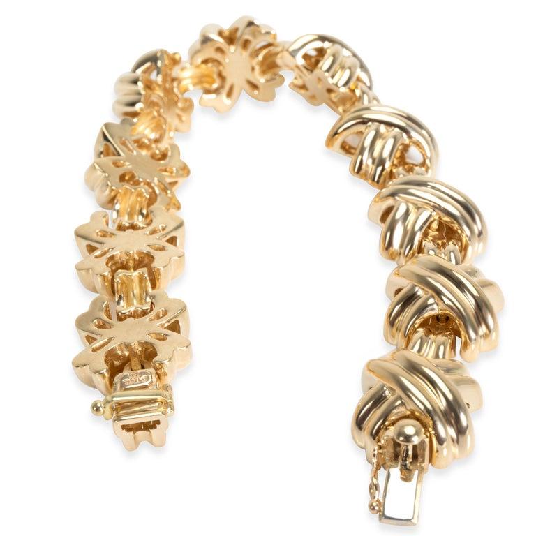 Women's Vintage Tiffany & Co. X Bracelet in 18 Karat Yellow Gold For Sale