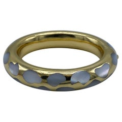 Vintage Tiffany & Co. Yellow Gold and Mother of Pearl Bangle Bracelet