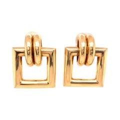 Vintage Tiffany & Co. Yellow Gold Door Knocker Earrings