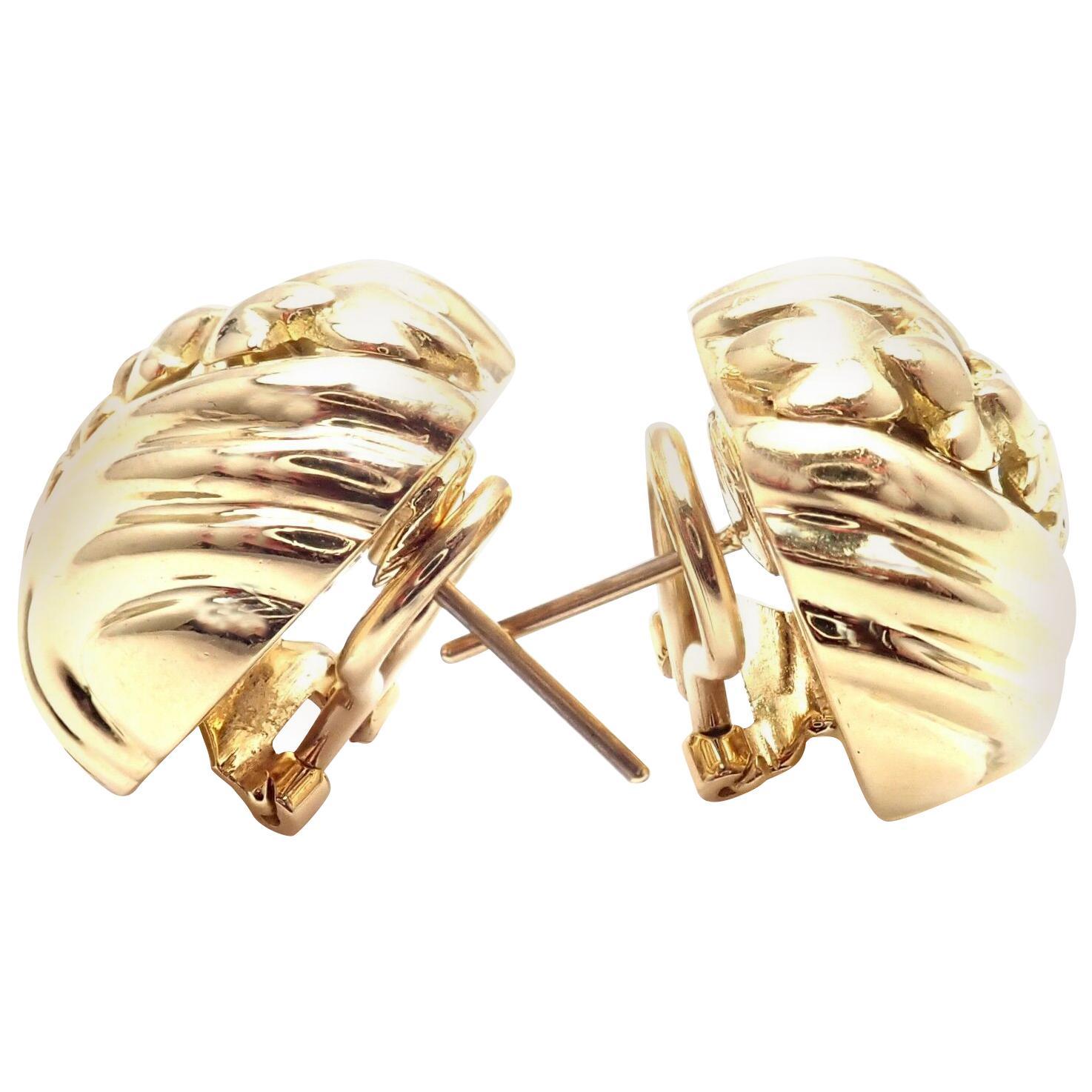 Vintage Tiffany & Co. Yellow Gold Earrings