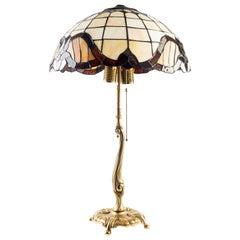 Vintage Tiffany Style Lamp, Mid-20th Century