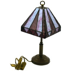 Vintage Tiffany-Style Table Lamp, Late 1950s