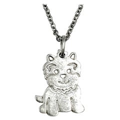 Tiffany & Co. Sterling Silver Westie, West Highland White Terrier Necklace
