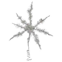 Vintage Tinsel Star Christmas Tree Topper German