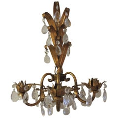 Vintage Tole Florentine Candle Wall Sconce