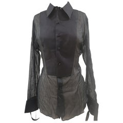 Vintage Tom Ford black see-through shirt