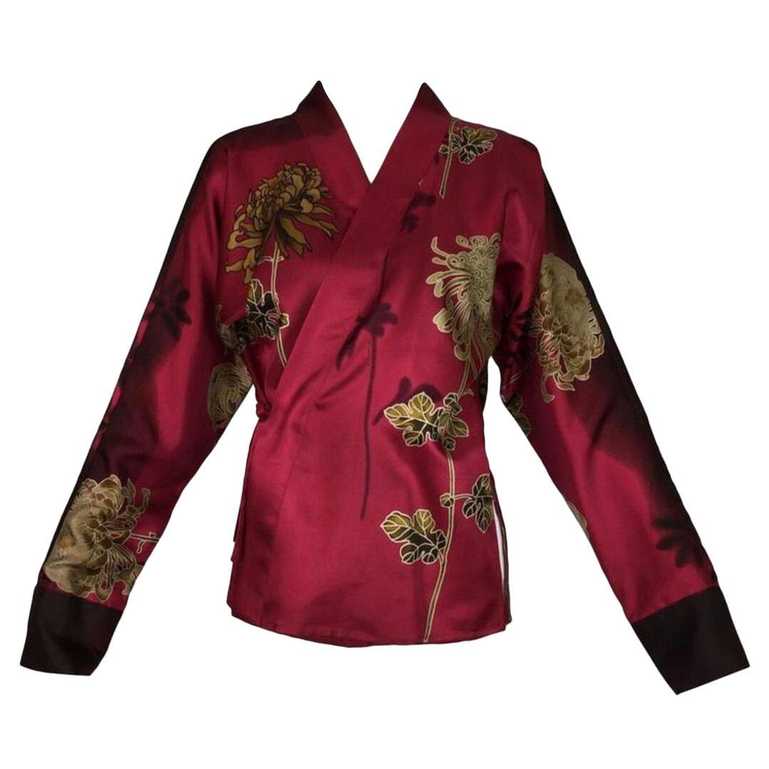 Vintage Tom Ford for Gucci Silk Kimono Shirt