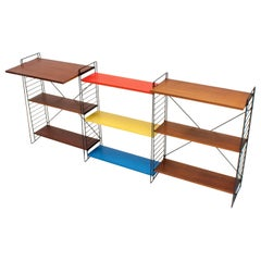 Vintage Tomado Freestanding Shelving with Desk Shelf, A. Dekker, 1950s, Holland