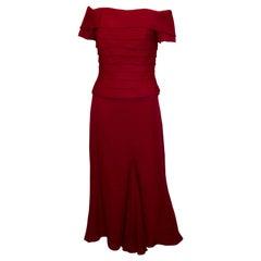 Vintage Tomasz Starzewski Couture Silk Skirt and Evening Top