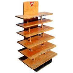 Vintage Tom's Peanuts Wooden Display Stand