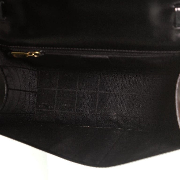 Vintage Top Handle Flap Bag Leather Medium For Sale 2