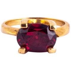 Vintage Tourmaline and 9 Carat Gold Ring