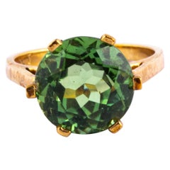Vintage Tourmaline and 9 Carat Gold Ring