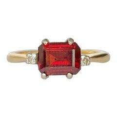 Vintage Tourmaline and Diamond 18 Carat Gold Ring