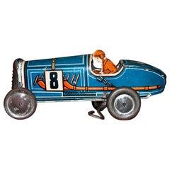 Vintage Toy Car- Wind up Memo 708 Car, Made in France by Memo, Model n. 708