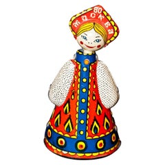 Vintage Toy, Dancing Russian Doll, Moscow Olympics, 1980