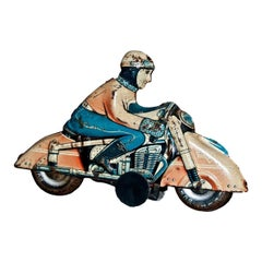 Vintage Toy, HKN Motorcyclist, Made by Huki Kienberger, 1950s