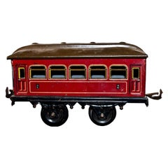 Vintage Toy, Karl Bub 7-Window Passenger Coach, Made in Germany
