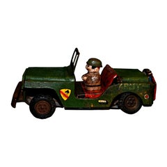 Vintage Toy, Military Jeep