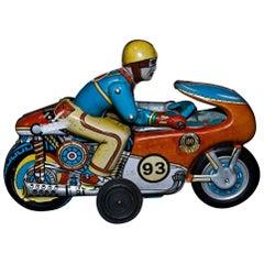 Vintage Toy Motorbike by Oriental Metal Industries, India, 1970s