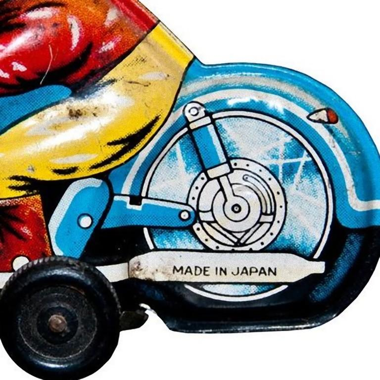 Vintage Toy, Small Motorcyclist, Made in Japan, 1960s In Good Condition For Sale In Roma, IT