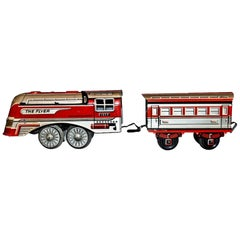 Vintage Toy, The Flyer 1956 Locomotive and Coach, 1956
