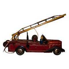 Vintage Toy, Tin Fire Truck, 1939
