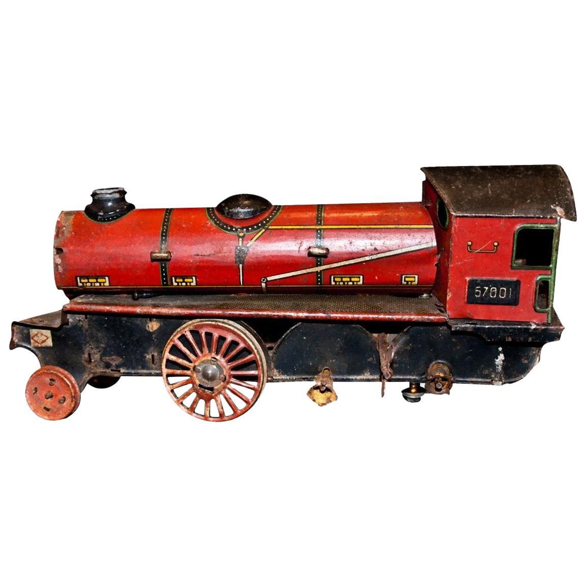 Vintage Toy, Wind up Locomotive Ingap 67001, Made by Ingap, 1920s