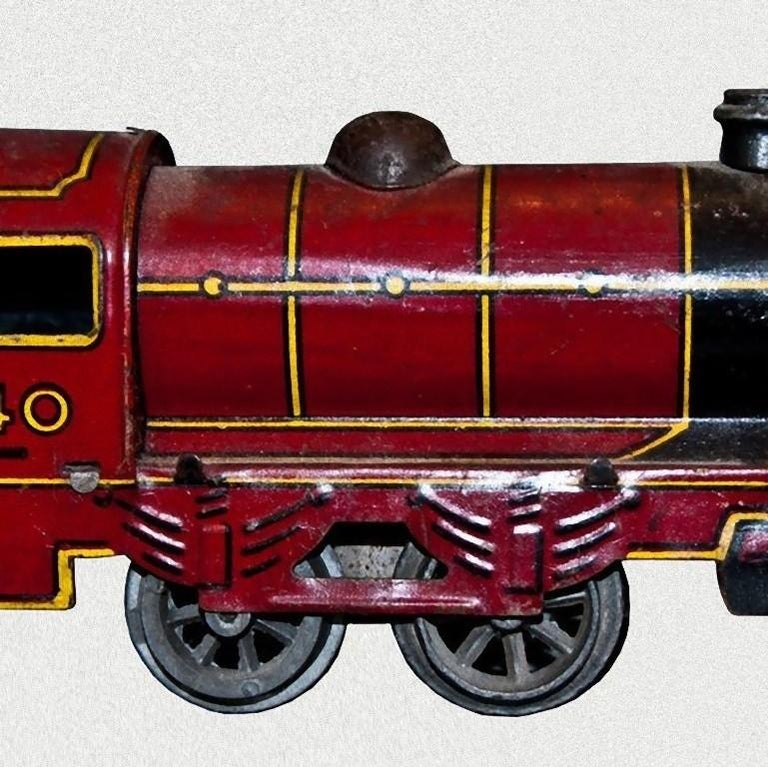 Vintage Toy, Wind up Locomotive Wells-Brimtoy 7040, by Wells-Brimtoy, 1930s In Good Condition For Sale In Roma, IT
