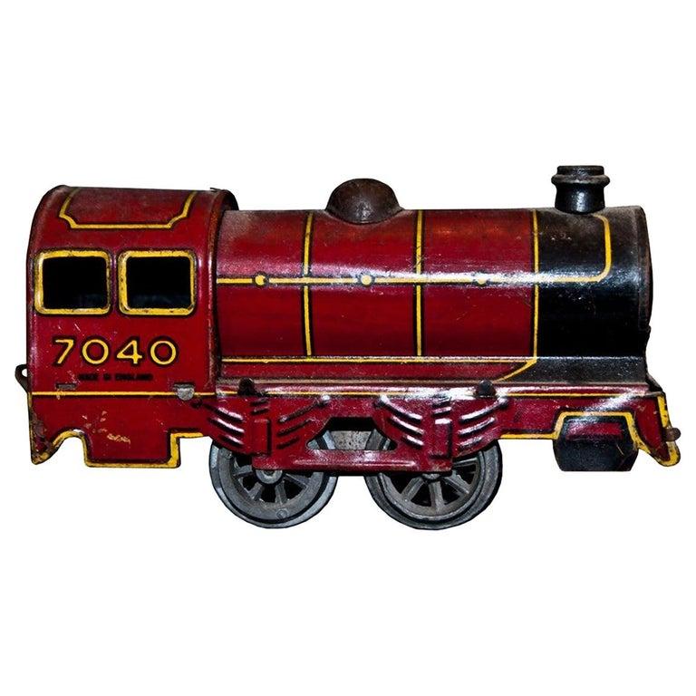 Vintage Toy, Wind up Locomotive Wells-Brimtoy 7040, by Wells-Brimtoy, 1930s For Sale