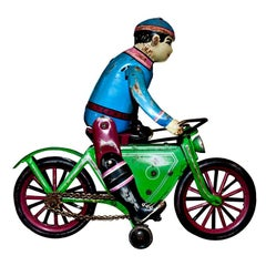 Vintage Toy, Wind Up Motorcyclist