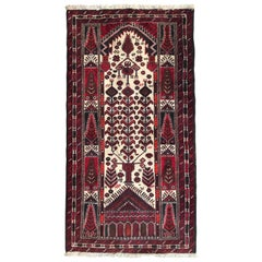 Vintage Traditional Afghan Baluch Rug