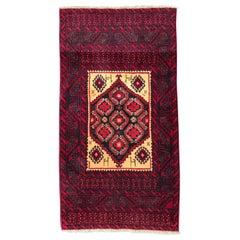 Vintage Traditional Belutch Afghan Rug
