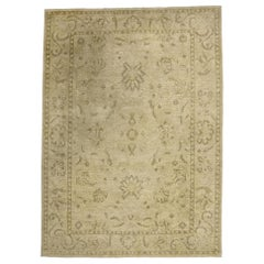 Vintage Transitional Area Rug with Colonial Style and Neutral Colors