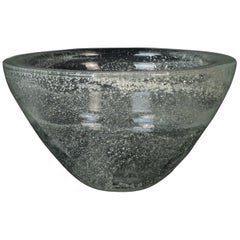 Vintage Transparent Glass Bowl, Italy, 1970s