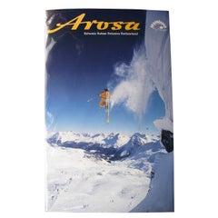Vintage Travel Ski Poster, Arosa, Switzerland