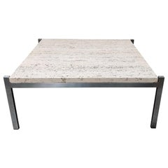 Vintage Travertine Coffee Table, 1970s