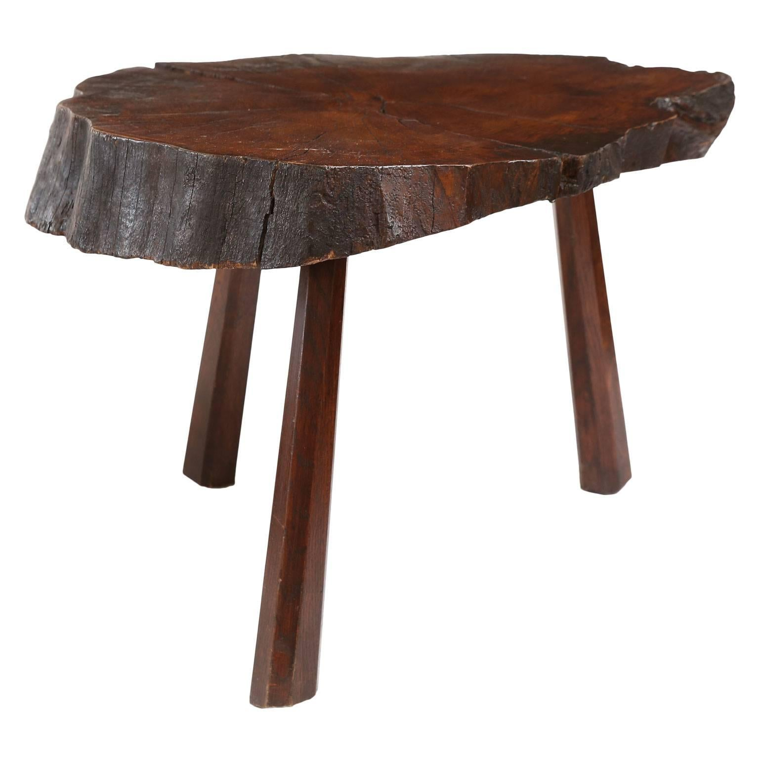 Vintage Tree Trunk Table