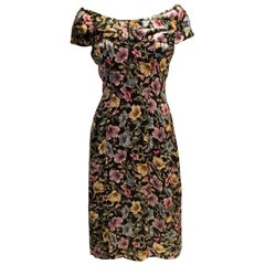 Vintage Tremara Model London Floral Cocktail Dress