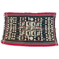 Vintage Tribal Elephant Cloth Textile Naga of Manipur, NE India Mid-20th Century