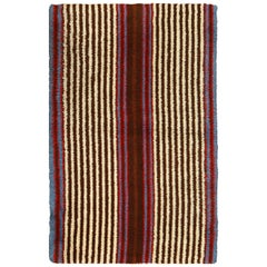 "Vintage Tribal Geometric Native American Navajo Design Rug. Size: 3' 9"" x 6' 1"""