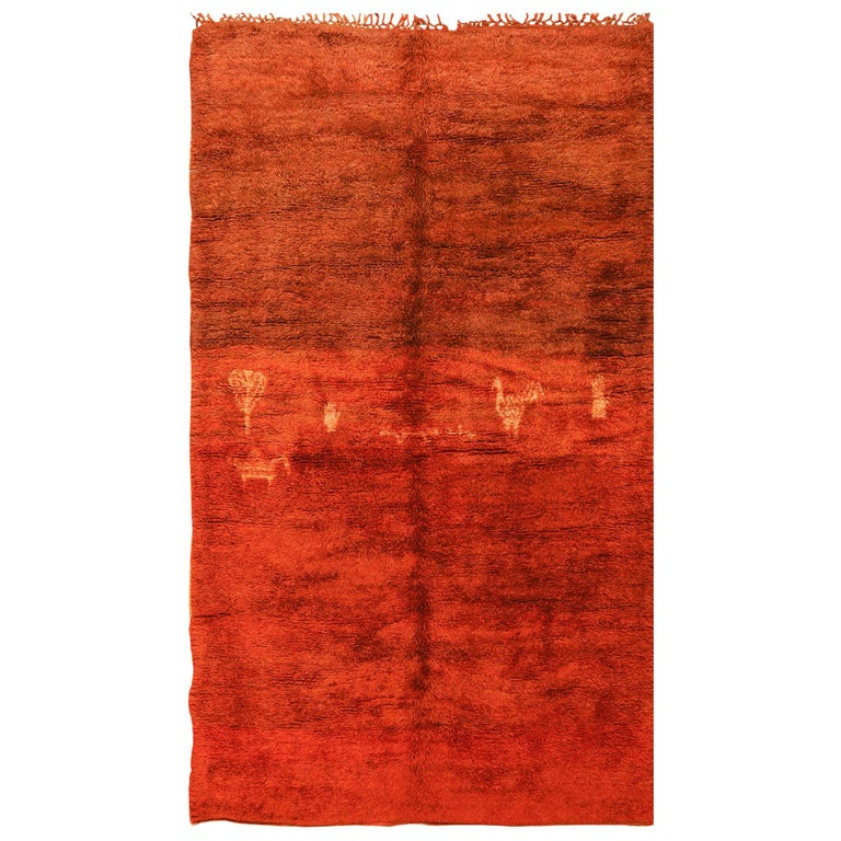 Plush Vintage Tribal Berber Moroccan Rug. Size: 6 ft 3 in x 10 ft 6 in For Sale