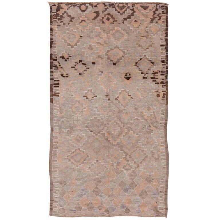 Vintage Tribal Moroccan Rug For Sale At 1stdibs